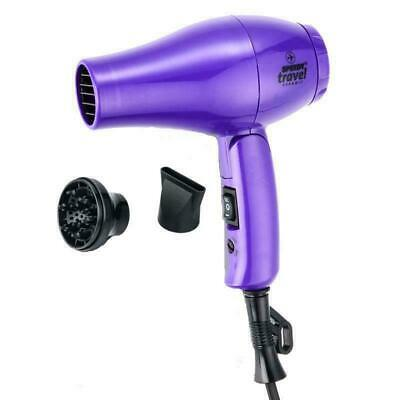 Speedy Travel Ceramic Hairdryer PURPLE 1000w with Diffuser 2 Speed  Hair Dryer