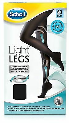 Scholl Light Legs Compression Tights 60 Den Black - Small/Medium/Large/XL