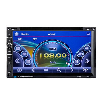 "7"" 2DIN Android HD Car Stereo DVD/VCD/CD/MP4 Player GPS Radio Touchcreen + 8GTF"
