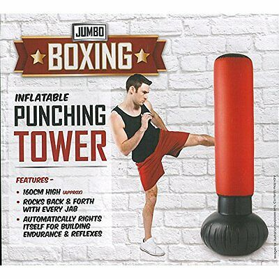 Punching Tower Stress Standing Buster Inflatable Punch Tower Punching Bag + Pump