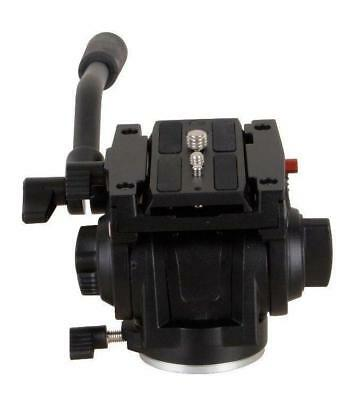 Mini Head Pro Fluid Video pour trépied Manfrotto 701HDV 501PL QR Black