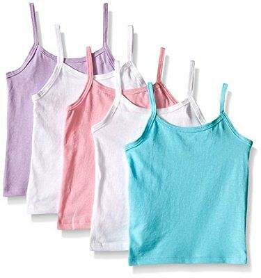 Hanes Toddler Girls 5-Pack Cotton Cami, Assorted, 4