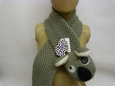 Barts Kids Boys Girls Unisex Animal crocodile owl koala Winter Scarf BNWT