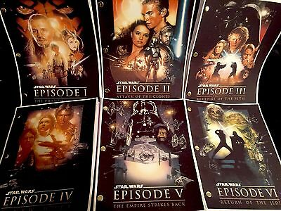 Star Wars™ EPISODES I - VII Original Screenplays (1977-2015) Rare Script Set