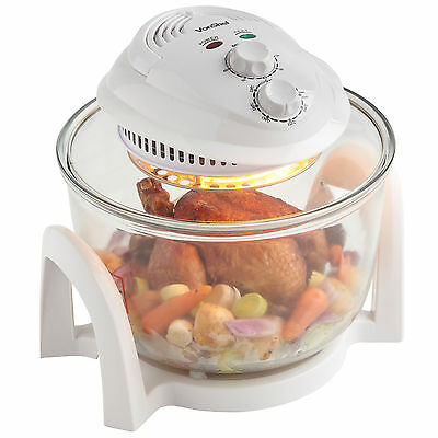 VonShef Premium 7L White Halogen Convection Oven Cooker
