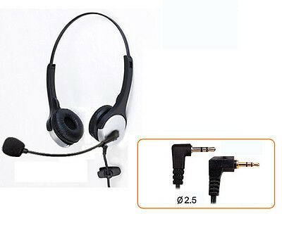 For Panasonic/Philips/Teledex Cordless Phone:2.5 mm Headset Handsfree Earphone