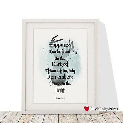 Harry Potter Stag Art Print Watercolour-Wall Art-Gift-Nursery Art-Word Art Quote