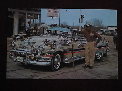 1952 Pontiac hand painted & lots of extra chrome. Anonymous Man of Color display