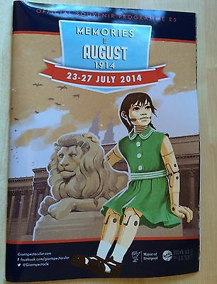 Official Souvenir Programme 2014 Liverpool Giant Spectacular - Memories of 1914