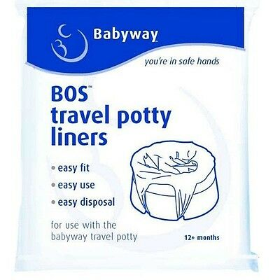 Babyway Disposable Travel Potty Linersx 10 Throw Away Potty Training Liners