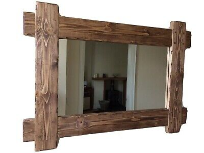 *Beautiful quality handmade rustic wooden mirror made from solid pine*