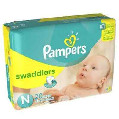 Pampers Swaddlers Newborn 120 Diapers 6 packs of 20