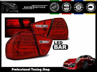 New Top Set Tail Lights Ldbmc7 Bmw E90 2005-2008 Red Led Bar