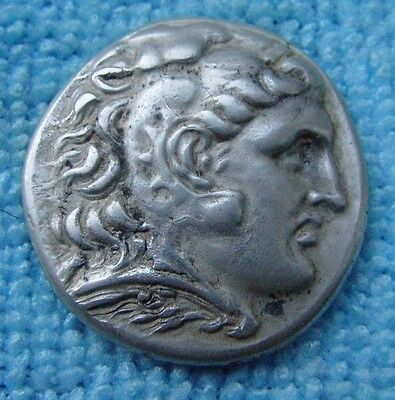 ANCIENT GREEK SILVER COIN ALEXANDER THE GREAT TETRADRACHM 4th CENTURY BC Ref.845