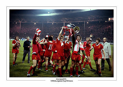 Liverpool 1978 European Cup Winners Photo A4 Photo Print
