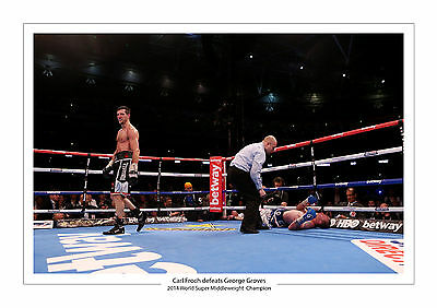 Carl Froch Vs George Groves A4 Print Photo Boxing 2014 Wembley Stadium