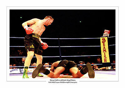 Steve Collins Vs Nigel Benn A4 Print Photo Boxing 1996