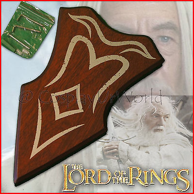 New LOTR Lord of the Rings Gandalf Glamdring Fantasy Wooden Wall Plaque Display