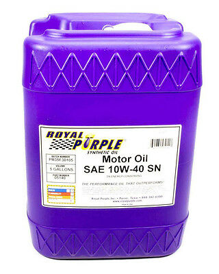 Royal Purple 10W40 Motor Oil 5 gal P/N 05140