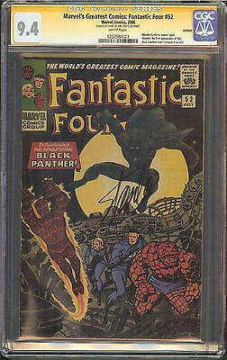 Marvel's Greatest Comics: Fantastic Four #52 CGC 9.4 NM SIGNED STAN LEE REPRINT