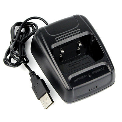 TOP! Li-ion Radio Battery Charger 100-240v USB for Baofeng BF- 888S Retevis H777