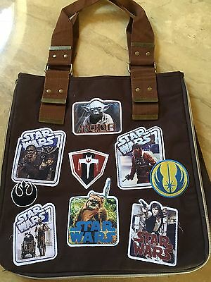Disney Star Wars Patches Tote Bag Authentic
