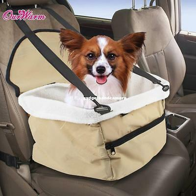 Booster Seat Dogs Pet Car Seat with Adjustable Strap Small Dogs