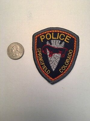 Springfield Colorado Police Department Patch Co Small Size