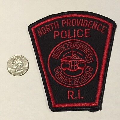 Old North Providence Rhode Island Police Department Patch Ri Cheesecloth Reverse