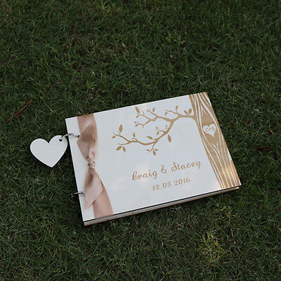 Personalized Wood Wedding guest book,Family tree guestbook album, Bridal Shower