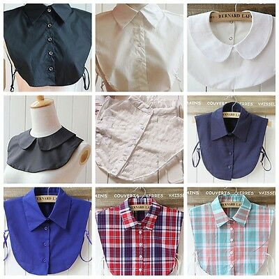 7 Style Peter Pan Detachable Lapel Women Men Fake False Collar Choker Neck Lapel