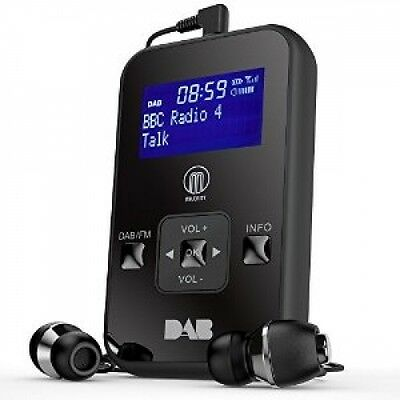 MAJORITY Kite DAB Digital FM Personal Portable Pocket Handheld Radio LCD Display