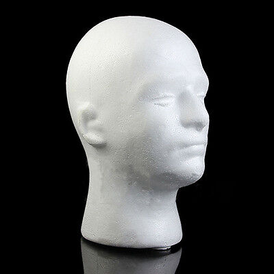 Professional Male Mannequin Manikin Head Model Wig Glasses Hat Display Stand