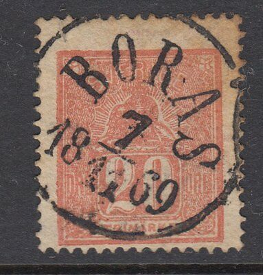 SWEDEN: 1858 20 ore red  SG 15a used