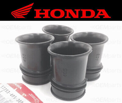 Set of (4) Intake Carburettor Airbox Rubber Boot Set CB 750 K / Four 1977-1978