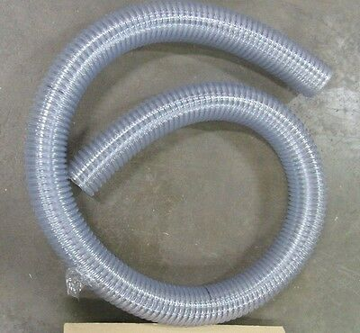 "10' Tigerflex We350 005063D 3 1/2"" Heavy Duty Food Grade Hose With Static Wire"