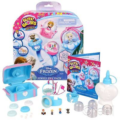 New Frozen Glitzi Globes Jewellery Pack Snow Globe Creative Disney Official