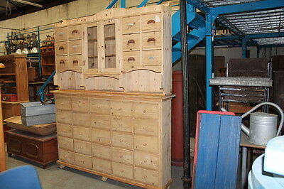 Large Antique Pine Dresser Housekeepers Sideboard