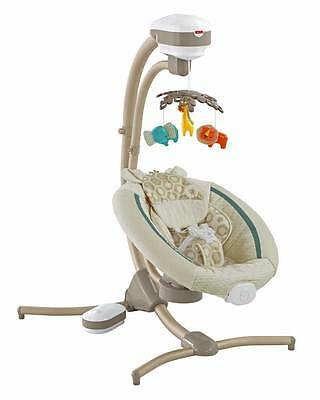 Fisher Price Soothing Savanna Cradle 'n Swing With Calming Vibrations