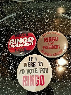 Ringo Starr Presidential Badges Buttons Pinback Beatles