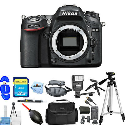 Nikon  D7100 24.1 MP Digital SLR Camera (Black Body Only) ALL YOU NEED KIT NEW!!