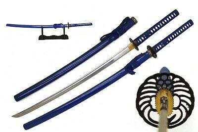 "Traditional 40"" Handmade Japanese Samurai Sharp Katana Sword with Scabbard"