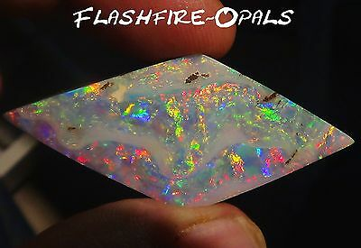 82,9ct. INVESTMENT GEM BOULDER OPAL BRILL. ROT/GOLD/ORANGE VIDEO FLASHFIRE-OPALS