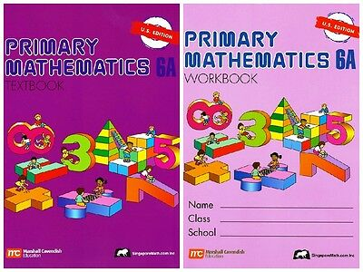 Primary Mathematics 6A Bundle Textbook+Workbook (US Edition) - FREE SHIPPING ! !