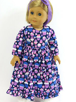 "Cupcake nightgown pajamas 18"" doll clothes fits American Girl AG"