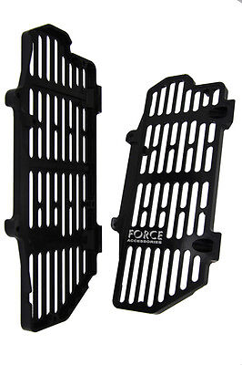 Force Accessories billet radiator guards black KTM 500EXC-F four-stroke 2017