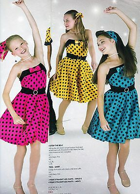 NWT 50's style Dance Costume Hairspray Circle Skirt Dress 3 colors WolffFording
