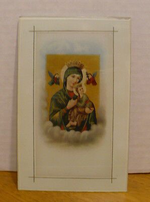 """Vintage  """"our Lady Of Perpetual Help"""" Wall Hanging Picture"""
