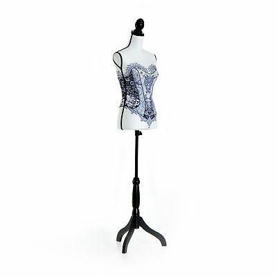 Adjustable Female Dress Form Mannequin Torso Clothes Display W/ Stand Lace