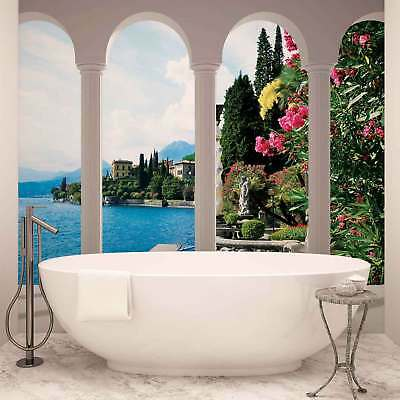 WALL MURAL PHOTO WALLPAPER XXL Lake Como Italy Arches (2355WS)
